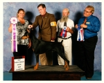 UKC Multi BIS CH Bravehart's Winter Warrior aka Crosby. He is looking for his majors in AKC.  Currently No.2 Doberman i